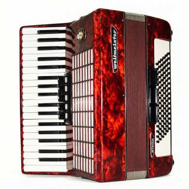 Weltmeister Stella, 96 Bass Piano Accordion, made in Germany, New Straps, 1646, Original Musical Instrument, Excellent Sound!