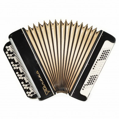 Chromatic Button Accordion Tonica, Russian Bayan Classic Musical Instrument 1652, 100 Bass New Straps, Excellent sound!