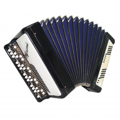Bayan Tulskiy Original Button Accordion made in Tula Russia New Straps Case 1661, Excellent and high quality sound!