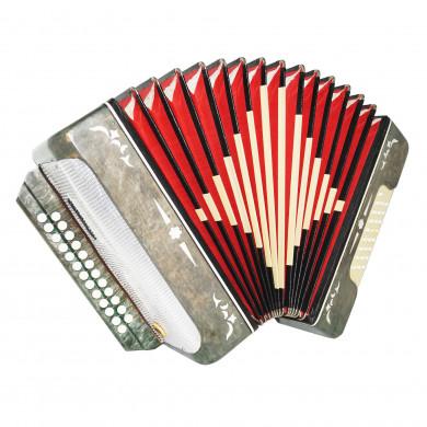 Harmonica Belarus Folk Button Accordion 25x25 2 Registers Garmon New Straps 1691, Very Beautiful sound!