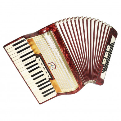 Vintage Weltmeister Piano Accordion, 96 Bass made in Germany, New Straps, 1681, Original Musical Instrument, Excellent Sound!
