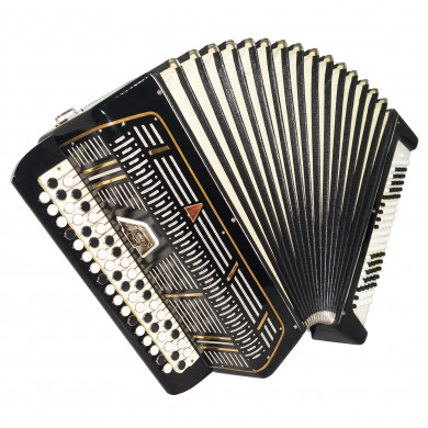 Almost Unused! 3 Row Bayan Sarmat, Russian Button Accordion New Straps Case 1708, 100 Bass, Quality and Beautiful sound!