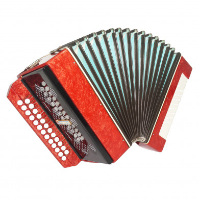 Narach 2, Folk Russian Garmon, Button Accordion Harmonica 25 x 25, Straps 1693, Very Nice Musical Instrument!