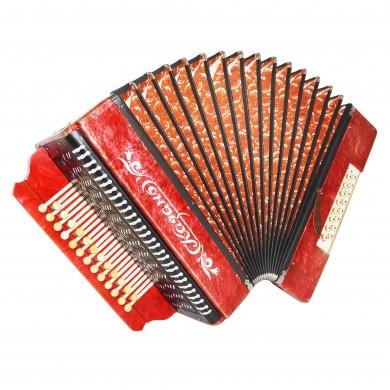Russian Harmonica Kazan Folk Vintage Button Accordion 25x16 Garmon Straps 1672, Very Beautiful sound!