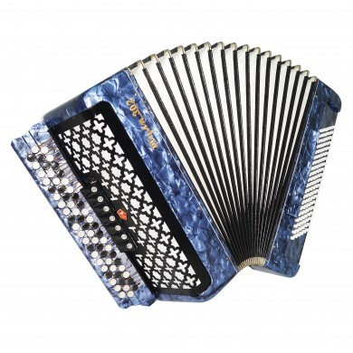 Double Cassotto Converter Bayan Tula 302 Russian Button Accordion Free Bass 1674, New Straps, Case, Great Concert Chromatic Accordian, Poweful Sound!