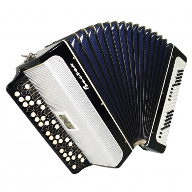 Bayan Vostok, 3 Rows Russian Button Accordion 2 Registers incl Straps Case 1678, Bright and Quality sound!