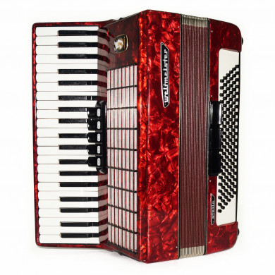 Close to New! Weltmeister Stella 120 Bass made in Germany Accordion Straps 1675, incl Case, Rich and Powerful Sound!