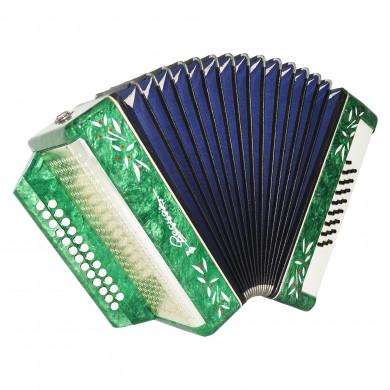 Harmonica Vesna 2, Russian Button Accordion Garmon, 25x25 New Straps Case 1695, Squeezebox, Nice and Bright sound!