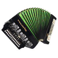 Luxury Tulskaya Garmon Tula 402, Russian Button Accordion, Harmonica 25x25 1683, 4 switches, Case, Squeezebox, Bright and Quality Sound!