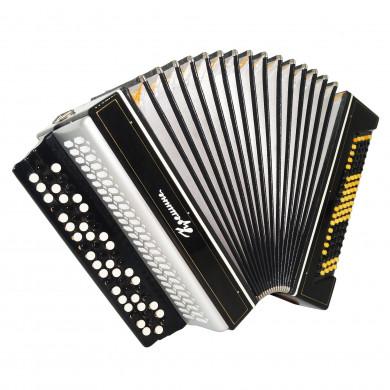 Bayan Kreminne, 3 Rows Ukrainian Original Button Accordion, New Straps Case 1679, Bright and Powerful sound.