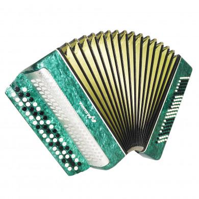 Original Bayan Kreminne, Ukrainian Chromatic Button Accordion, New Straps 1680, Very Beautiful sound!