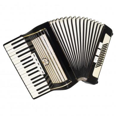 Lightweight Weltmeister 60 Bass, German Piano Accordion, Beginner Children 1698, incl. New Straps, Rich and Powerful Sound.