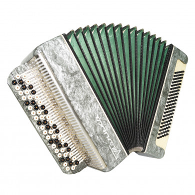 Almost Unused! Button Accordion Tonica, Russian Bayan 100 Bass, Straps Case 1699, Excellent sound!