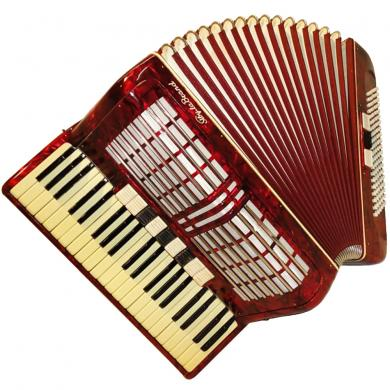 Sibyla Brand, 120 Bass, 12 Registers, Case, German Piano Accordion, 15