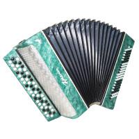 Close to New! Bayan Kreminne, Ukrainian Button Accordion, Case, New Straps 1685, Bright and Powerful sound.