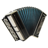 Great Vintage Handmade Bayan 120 Bass, Russian Button Accordion Solid Reeds 1686, New Straps, Amazing and Powerful sound!