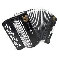Lightweight Tula Bayan Russian Button Accordion Beginner Kid 80 Bass BN-41 1687 Beautiful and Powerful Sound! incl. Straps, Case.