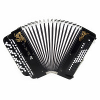 Brand New Lightweight Tula Bayan Russian Button Accordion Perfect for Beginners Children Kids 80 Bass BN 41 Black, Beautiful and Powerful Sound! incl. Straps, Case.