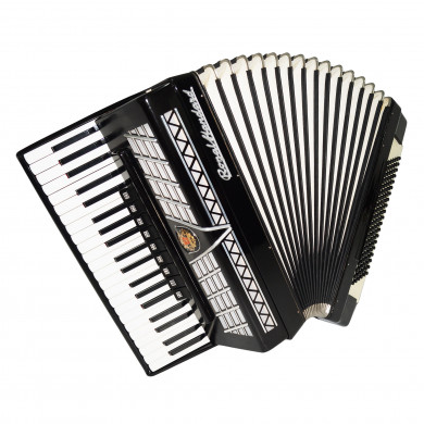 Royal Standard, 120 Bass, made in Germany Piano Accordion, New Straps, Case 1688, Very Beautiful and Quality Sound!