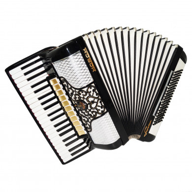 Horch Superior 120 Bass Luxurious Piano Accordion made in Germany Straps Case 1690, Very Beautiful and Powerful Sound!