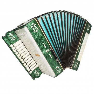 Rare Folk Russian Accordion Harmonica Belarus 25x25 Garmon New Straps Case 1711, Amazing sound!
