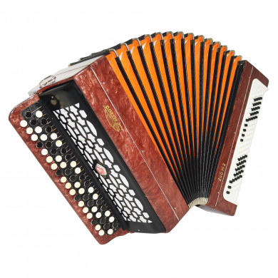 Bayan Etude 205M2, Excellent Russian Button Accordion Tula, New Straps Case 1705, Bright and Quality sound!