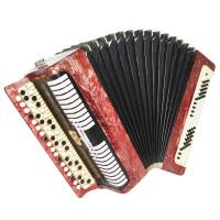 Bayan Etude, made in Tula Russia Chromatic Button Accordion New Straps Case 1719, Wonderful Sound!