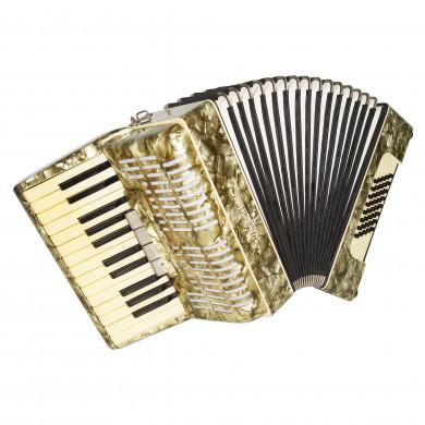 Lightweight Weltmeister 48 Bass Vintage German Accordion, Beginner Children 1715, incl. New Straps, Wonderful Sound.