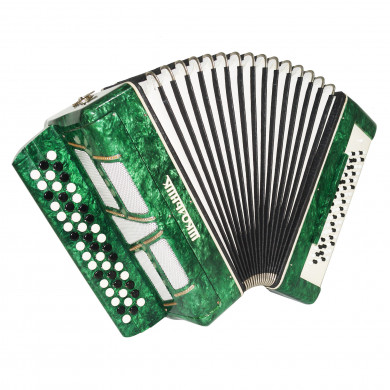 Converter Button Accordion Free Bass Stradella Lightweight Bayan Straps Case 1721, Shkol'nik, made in Russia, Perfect For Beginners Children.