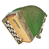 3 Row Bayan Rostov Don, Folk Russian Chromatic Button Accordion, New Straps 1722, Very Beautiful sound.
