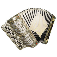 3 Row Barcarole, made in Germany, B System Button Accordion, New Straps 1723, Very Beautiful and Bright sound.