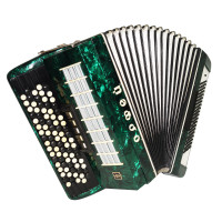 5 Row Button Accordion Orfey 120 Bass Concert Russian Bayan New Straps Case 1733, B System, Beautiful and Powerful sound.