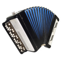 Tulskiy Bayan, made in Tula Russia, Original Button Accordion, New Straps 1734, Very Beautiful and Powerful sound!