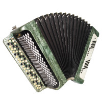 Full Size Tulskiy Bayan, 120 Bass, Tula Chromatic Russian Button Accordion, 1735, New Straps, Rich and Very Quality sound.