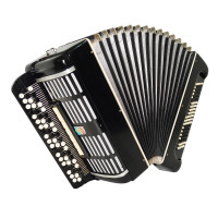 Double Cassotto Bayan Moscow, made in Russia, Button Accordion, New Straps, 1739, Gorgeous and Poweful Sound! Great Concert Chromatic Accordian!