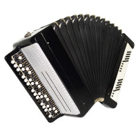 Tulskiy Bayan, made in Tula Russia, Original Button Accordion, New Straps 1742, Very Beautiful and Powerful sound!