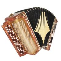 Folk Russian Button Accordion, 3 Row Bayan Belarus, made in USSR New Straps 1738, Wonderful sound!