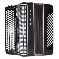 5 Row Converter Bayan Agate Double Cassotto Free Bass Stradella Button Accordion 1737, made in Russia High Quality Professional Bayan!