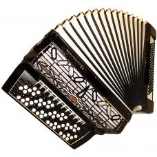 5 Row Barcarole, Concert German Button Accordion, Bayan 120 Bass, New Straps, 21, Bright and Powerfull sound!