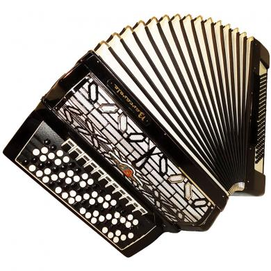 5 Row Barcarole, Concert German Button Accordion, Bayan 120 Bass, New Straps, 21, Bright and Powerful sound!