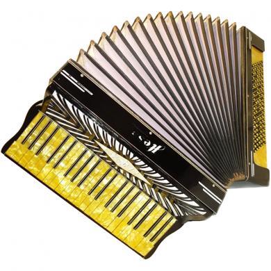 Hess Klingenthal, 120 Bass, 2 Registers, German Piano Accordion, 82