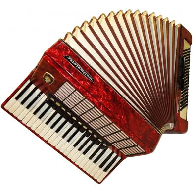 Weltmeister Stella, 120 Bass, 14 Registers, German Piano Accordion, 87