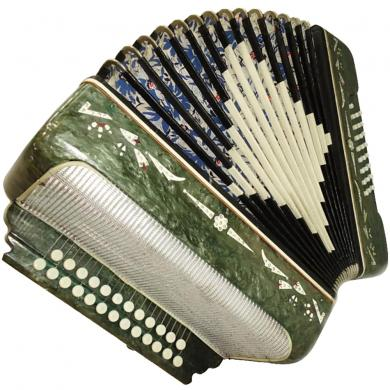 Belarus / Беларусь, 25 x 25, Russian Button Accordion Garmon, 151