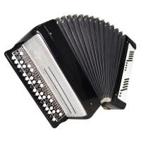 Bayan Tulskiy made in Tula Russia, Chromatic Button Accordion Тульский Баян 1485, 100 Bass, Excellent sound.
