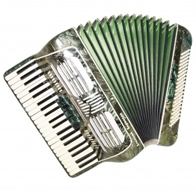 Full Size Piano Accordion Red Partisan, 120 Bass, made in Russia, Stradella 1433, Very Beautiful and Powerful Sound.