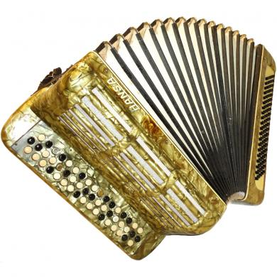 Hansa, 100 Bass, German Button Accordion Bayan, 48