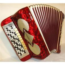 Meinel & Herold, 120 Bass, 13 Registers, 5 Rows, German Button Accordion Bayan, 47
