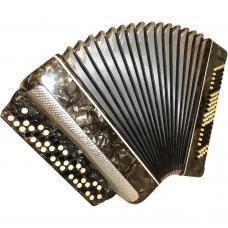 Poltava / Полтава, 100 Bass, Ukrainian Button Accordion Bayan, 43