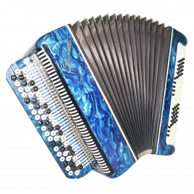 Folk Chromatic Button Accordion Tonica, made in Russia Bayan 3 Row 100 Bass 1481, Classic Musical Instrument, Excellent sound!