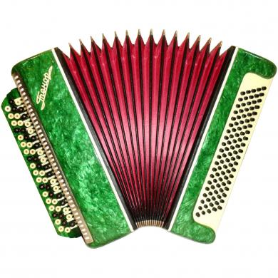 Russian Button Accordion Bayan Tenor / Тенор, 100 Bass, Case, 427